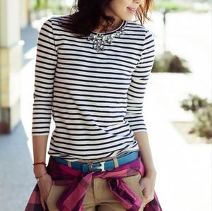 J. Crew Factory Jeweled Striped T-Shirt Size Small